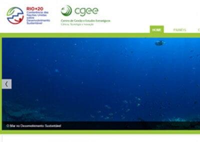 Hotsite CGEE na Rio+20