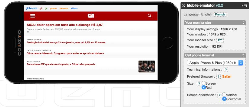 mobile phone emulator